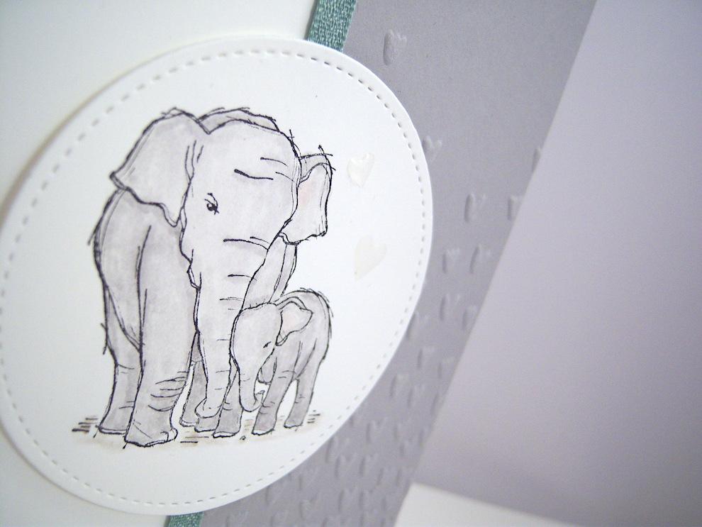 Karte zur Geburt Elefant Bild 2