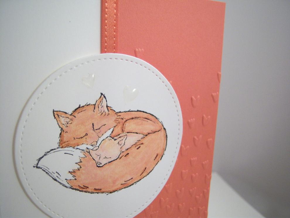 Karte zur Geburt Fuchs Bild 2