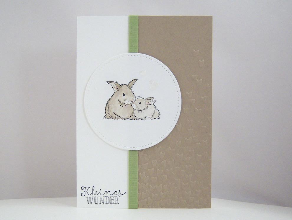 Geburt / Taufe - Karte zur Geburt Kaninchen Bild 1