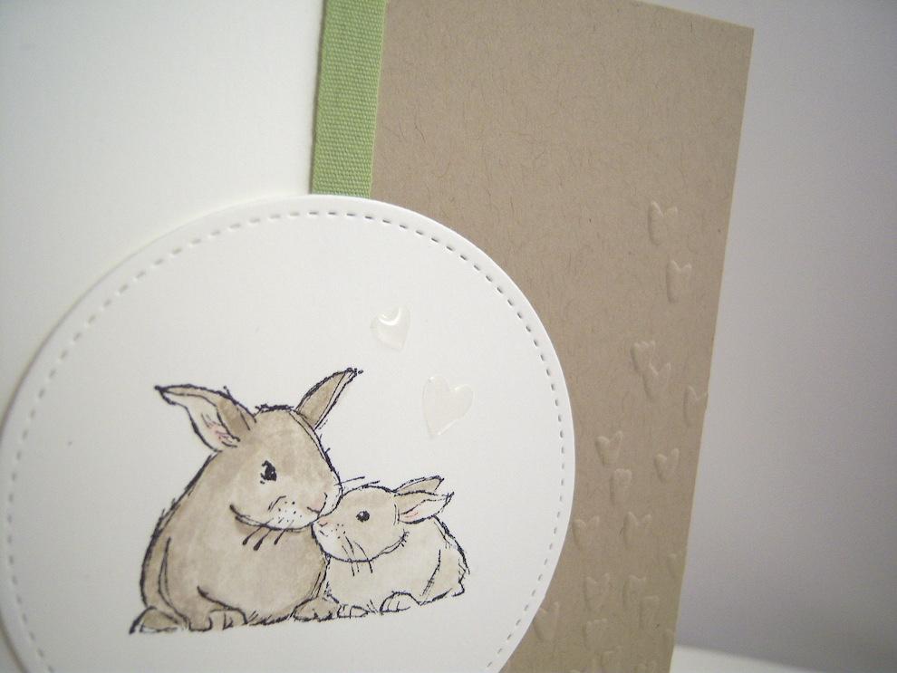 Karte zur Geburt Kaninchen Bild 2