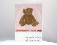Karte zur Geburt Teddy 1