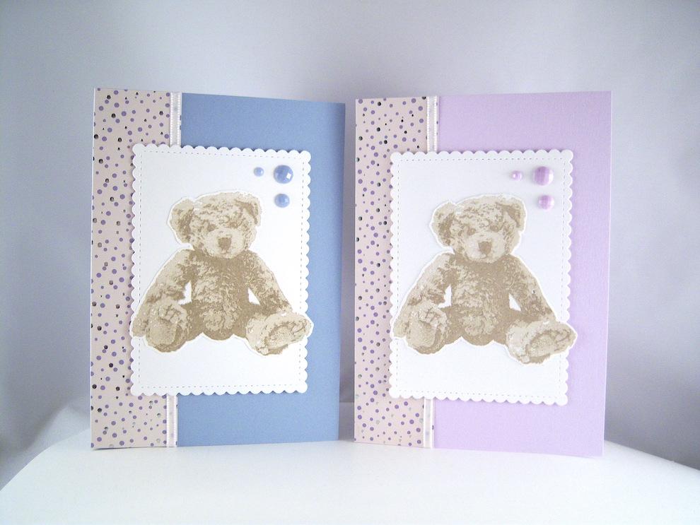 Geburt / Taufe - Karte zur Geburt Teddy