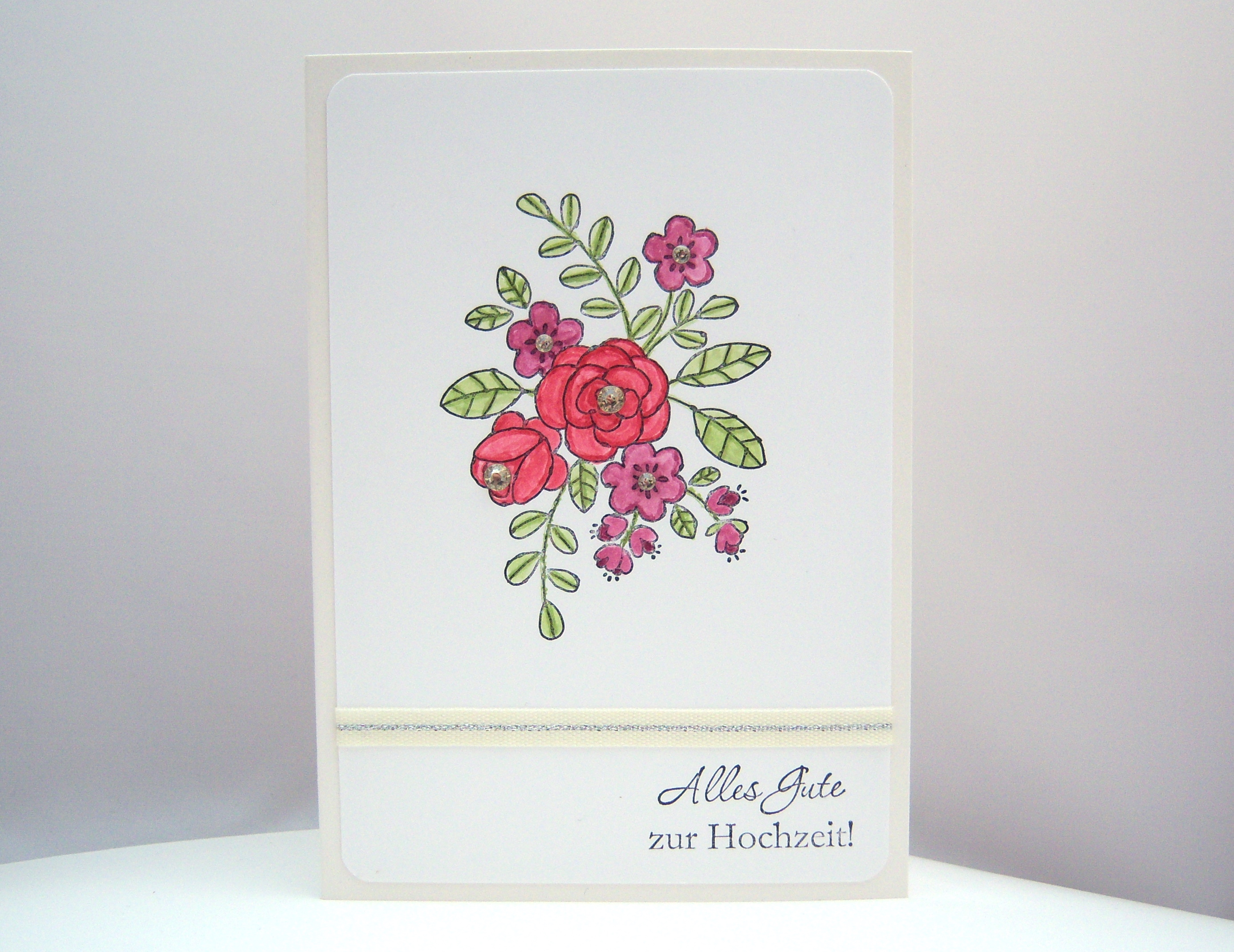 Hochzeit - Karte zur Hochzeit Blumenranken 1