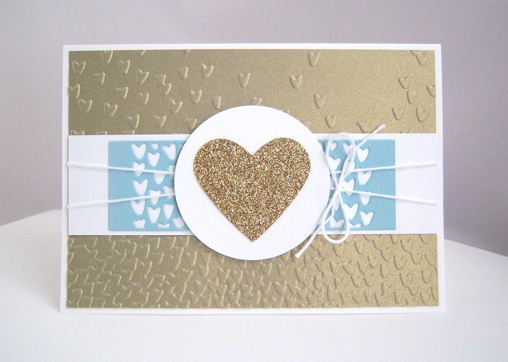 Hochzeit - Karte zur Hochzeit Goldherz 1
