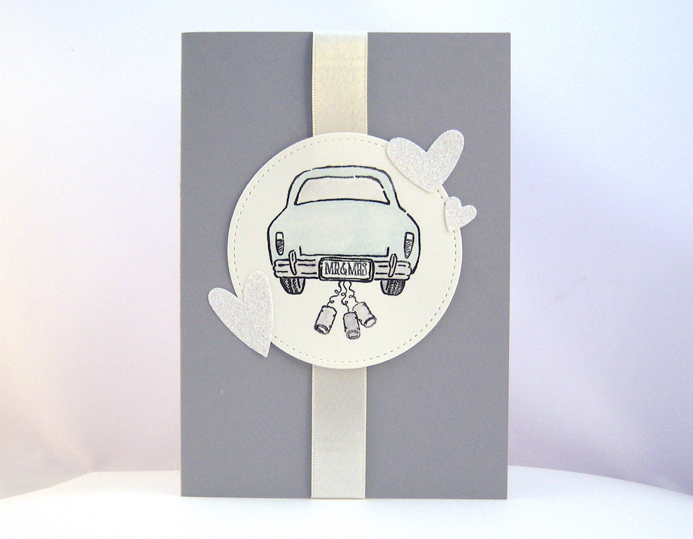 Hochzeit - Karte zur Hochzeit -Hochzeitsauto- Bild 1