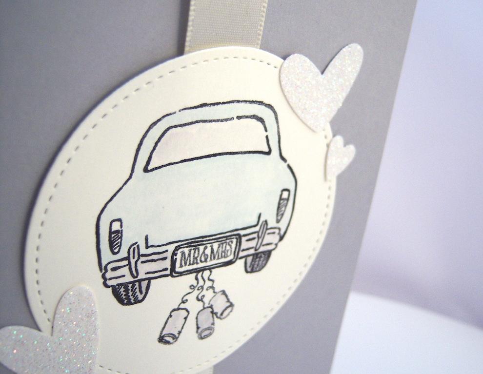 Karte zur Hochzeit -Hochzeitsauto- Bild 2