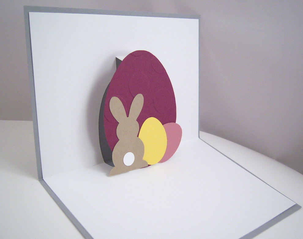 Pop-up Osterkarte -Ostereier Hase- Bild 2