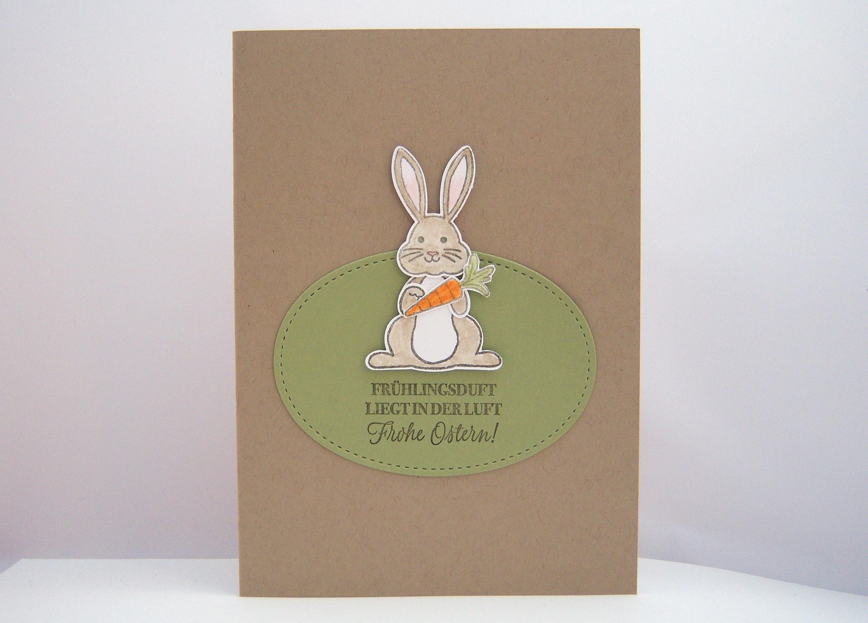Ostern - Osterkarte Häschen Bild 1