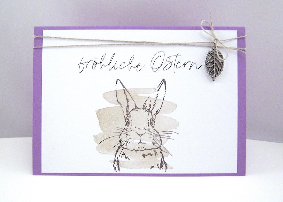 Ostern - Osterkarte Hase Bild 1