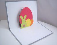 Osterkarte -Hase und Eier- individuell Bild 1