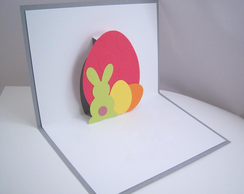 Ostern - Osterkarte -Hase und Eier- individuell Bild 1