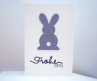 Osterkarte -Hase, schlicht- Bild 1