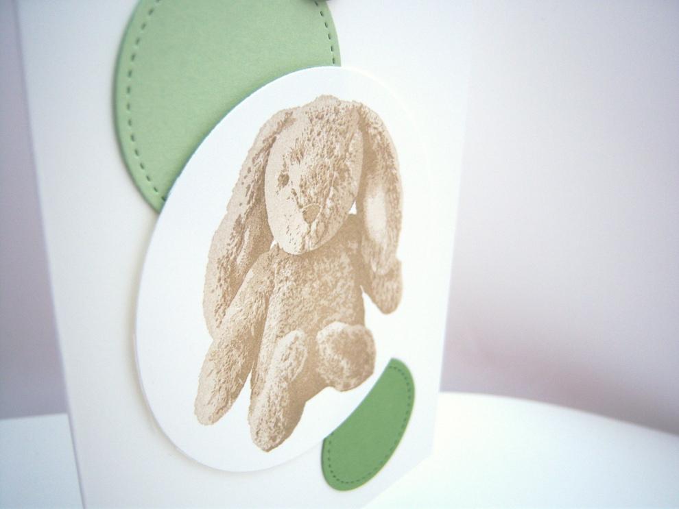 Osterkarte -Plüschhase- Bild 2