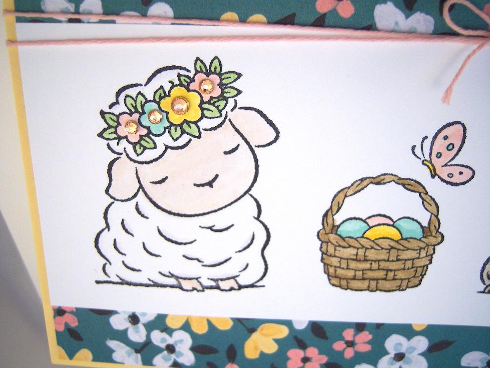Osterkarte Schaf und Hase Bild 2