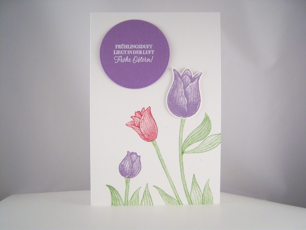 Ostern - Osterkarte Tulpen Bild 1