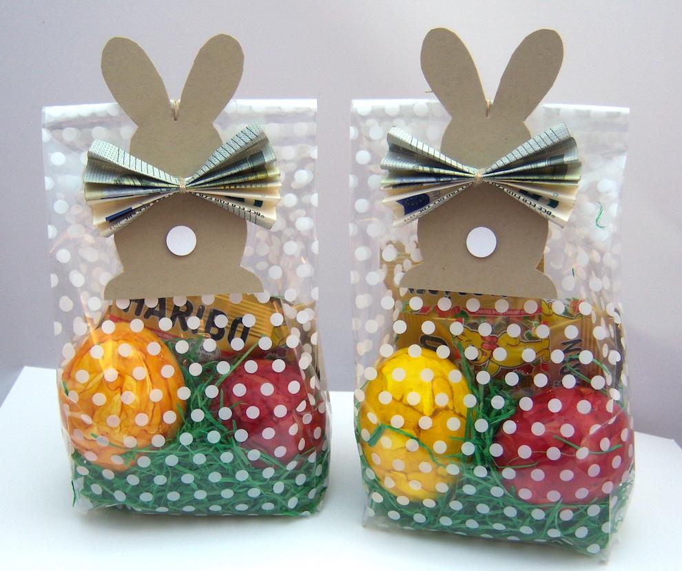 Ostern - Osterverpackung mit Geldhasen 1