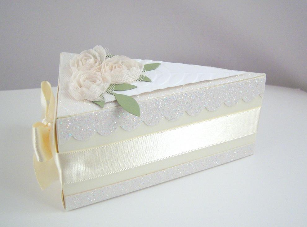 Hochzeit, Verpackungen - Tortenstück Diamantene Hochzeit Bild 1