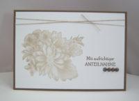 Trauerkarte -Blumen- Bild 1