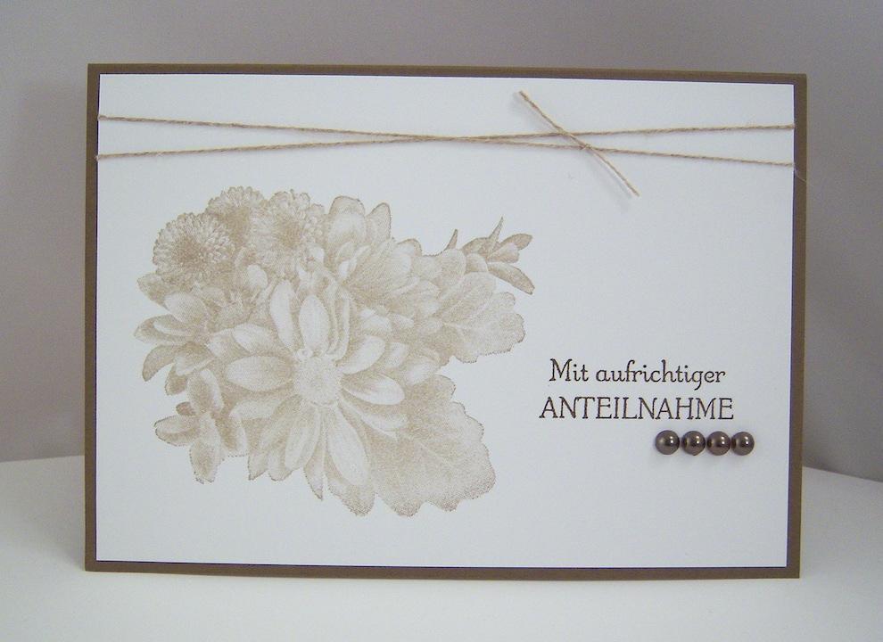 Trauer - Trauerkarte -Blumen- Bild 1