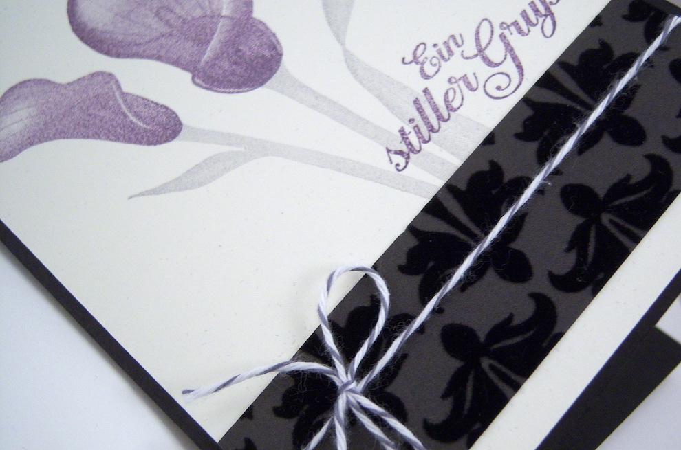 Trauerkarte -Blumen- Bild 2