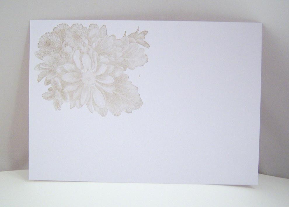 Trauerkarte -Blumen- Bild 3