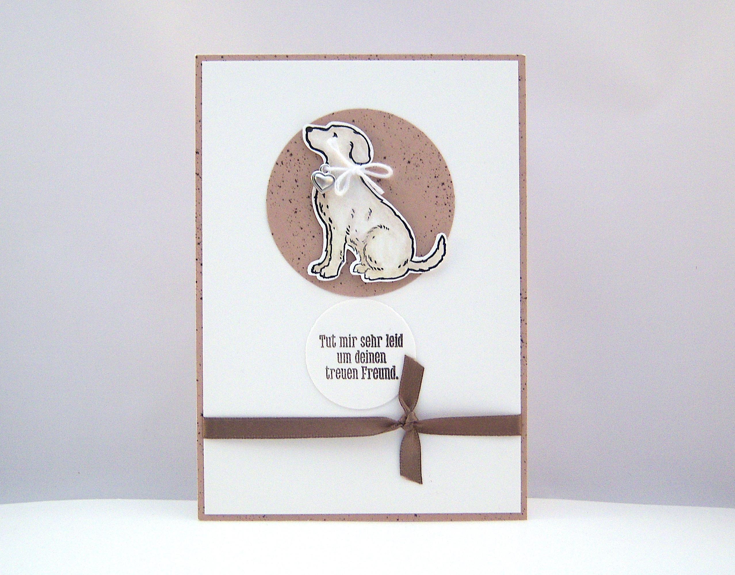 Trauer - Trauerkarte Hund Bild 1