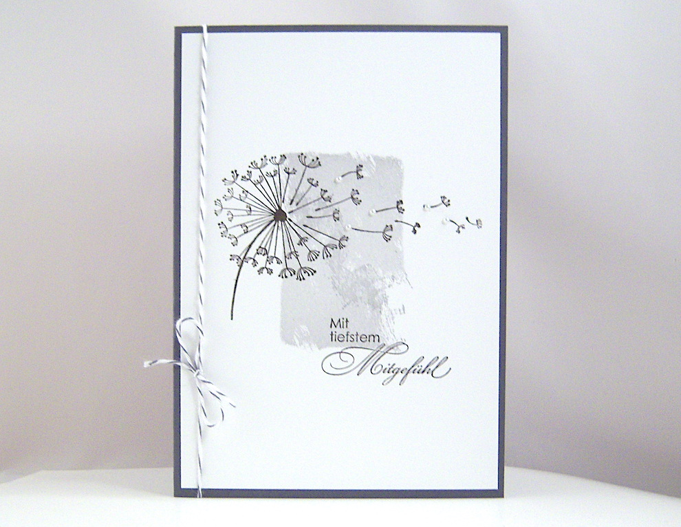 Trauer - Trauerkarte -Pusteblume- Bild 1
