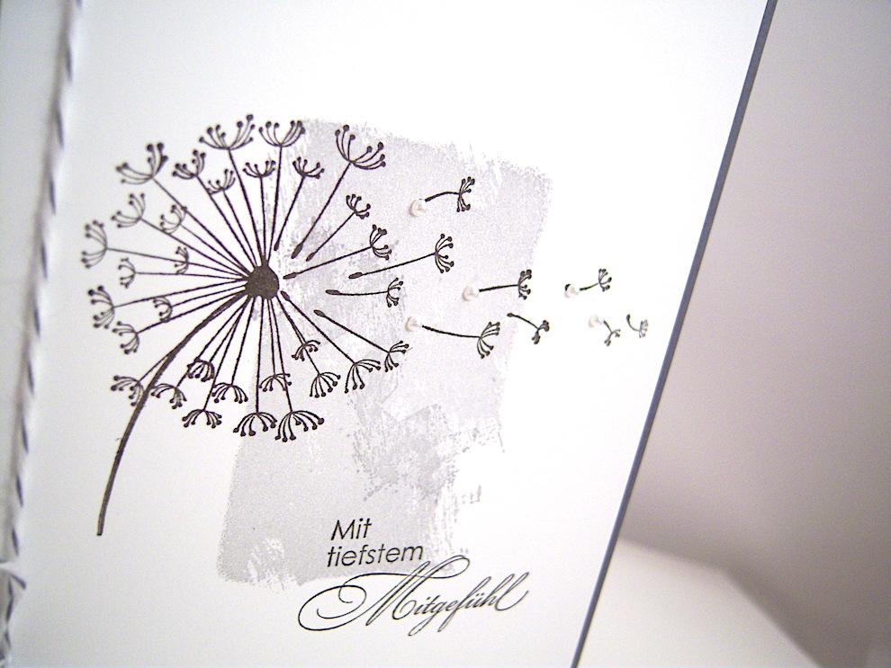 Trauerkarte -Pusteblume- Bild 2