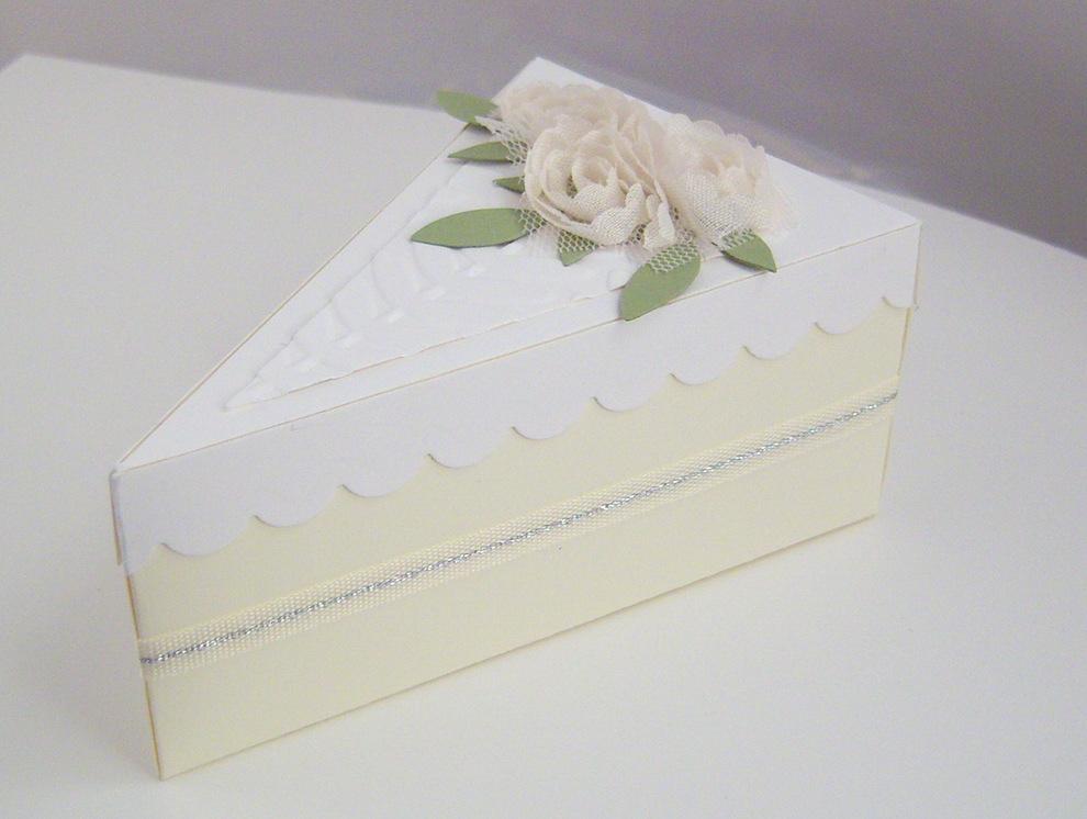 Hochzeit, Verpackungen - Verpackung Tortenstück Bild 1