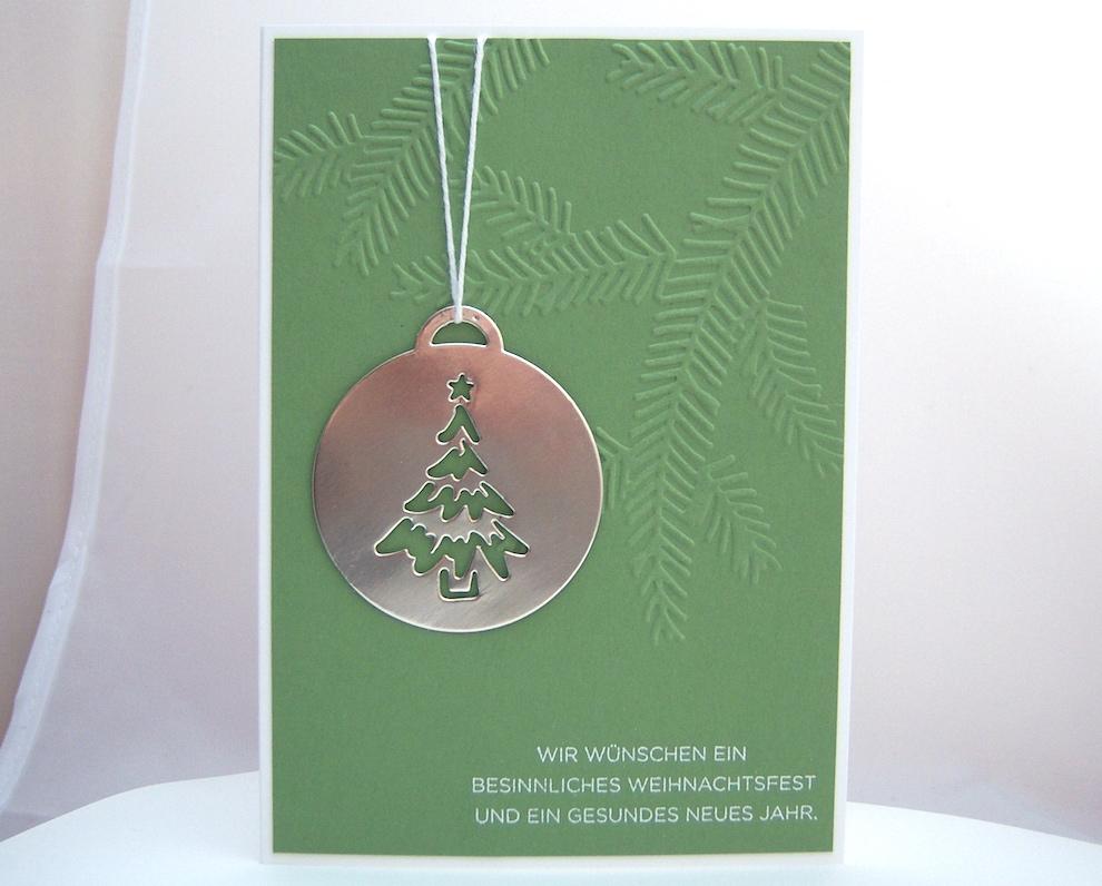 Weihnachtskarte -Baumkugel- Bild 1