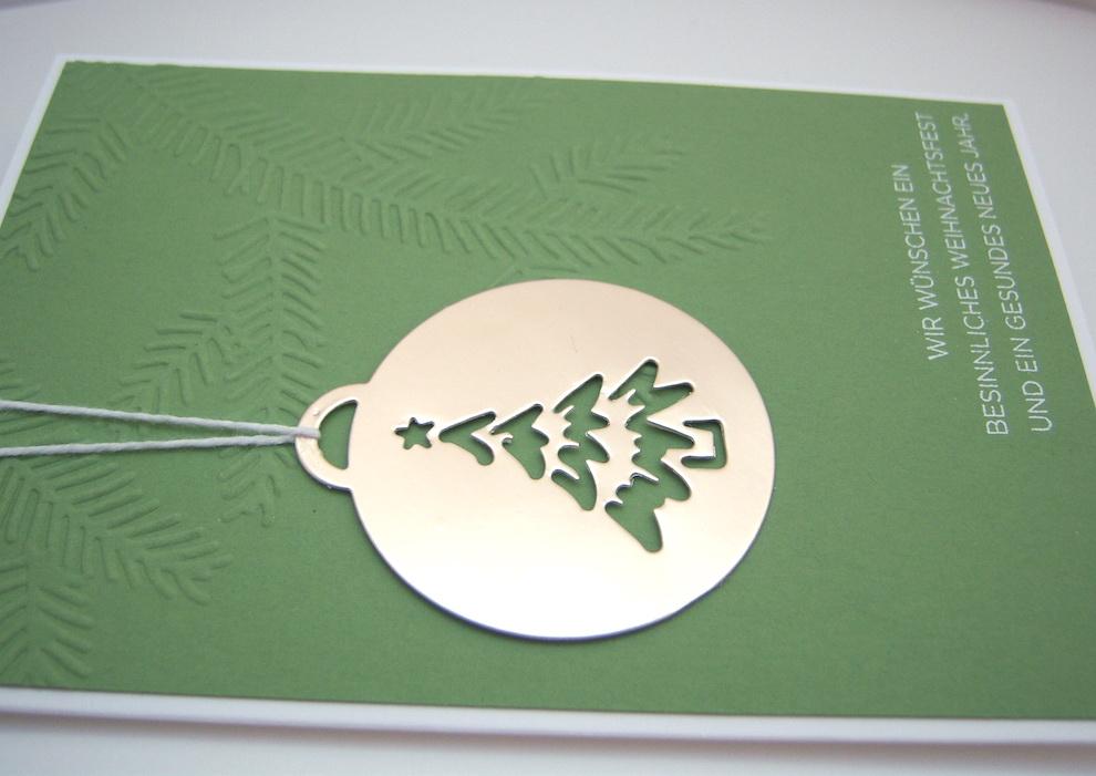 Weihnachtskarte -Baumkugel- Bild 2