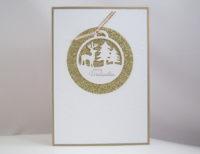 Weihnachtskarte -Fenster mit Kugel- Bild 1