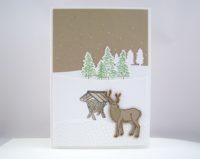 Weihnachtskarte Futtergrippe