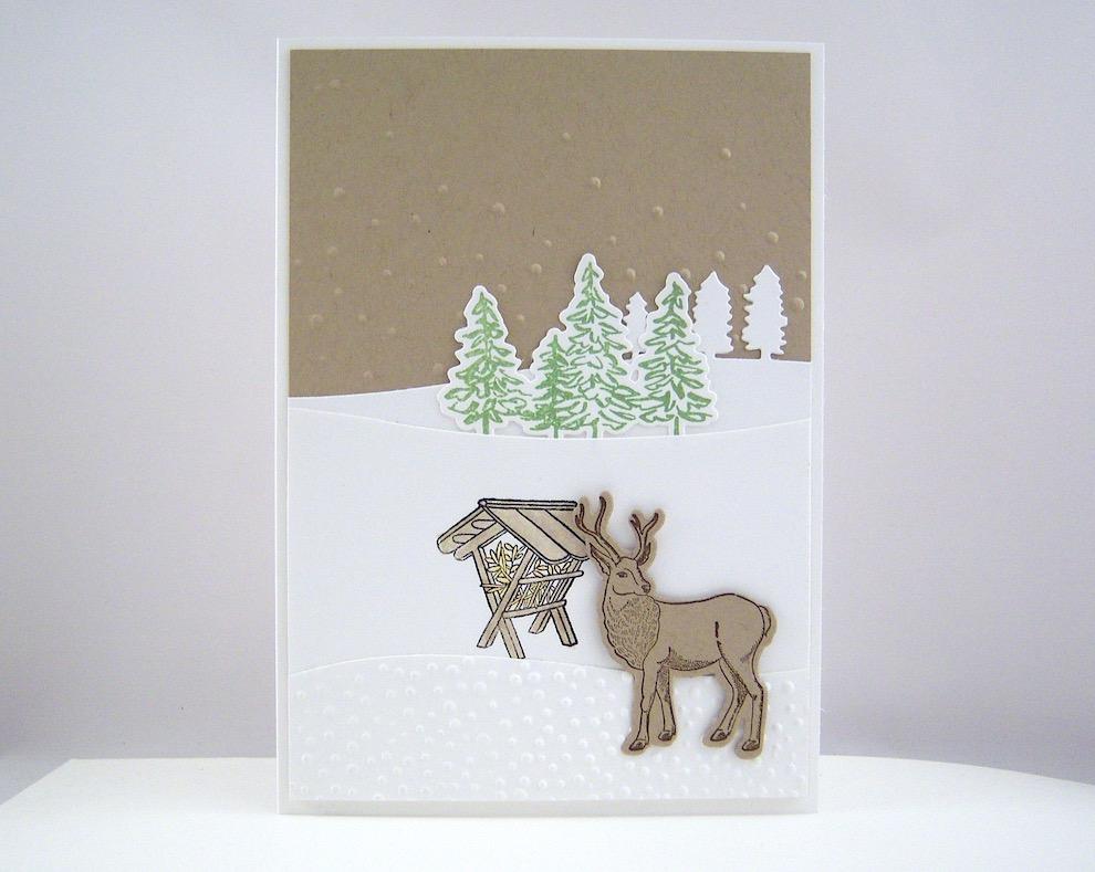 Weihnachten - Weihnachtskarte Futtergrippe