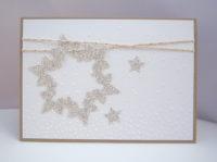 Weihnachtskarte -Glitzerschneeflocke- Bild 1