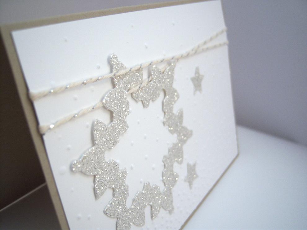 Weihnachtskarte -Glitzerschneeflocke- Bild 2