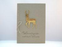 Weihnachtskarte -Goldender Hirsch- Bild 1