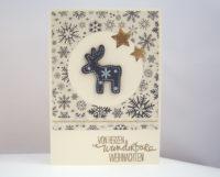 Weihnachtskarte -Holzhirsch- Bild 1