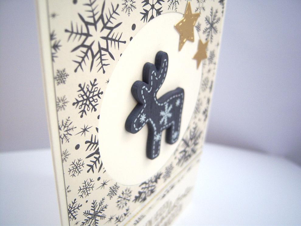 Weihnachtskarte -Holzhirsch- Bild 2