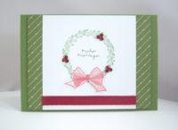Weihnachtskarte -Kranz- Bild 1