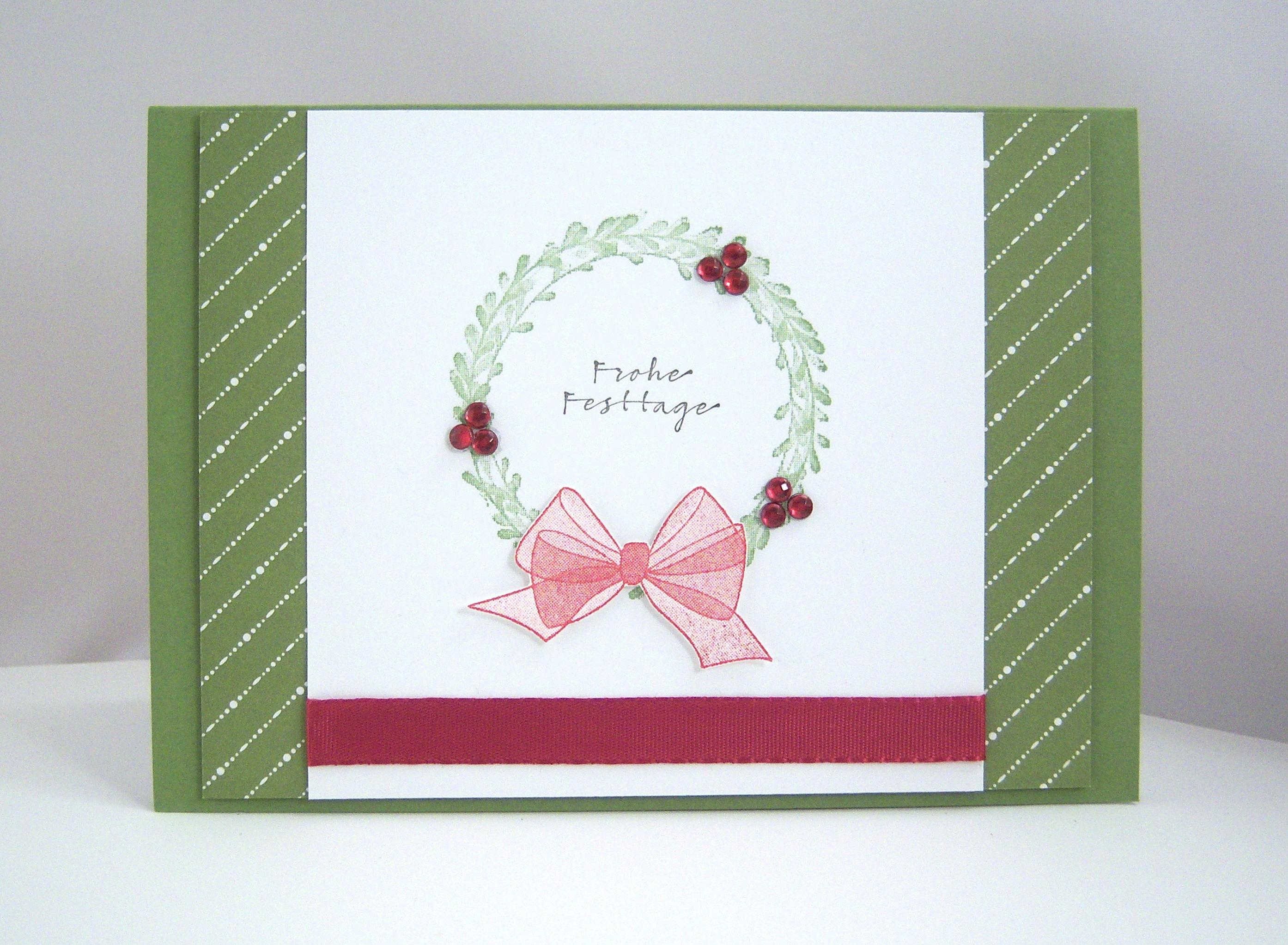 Weihnachten - Weihnachtskarte -Kranz- Bild 1