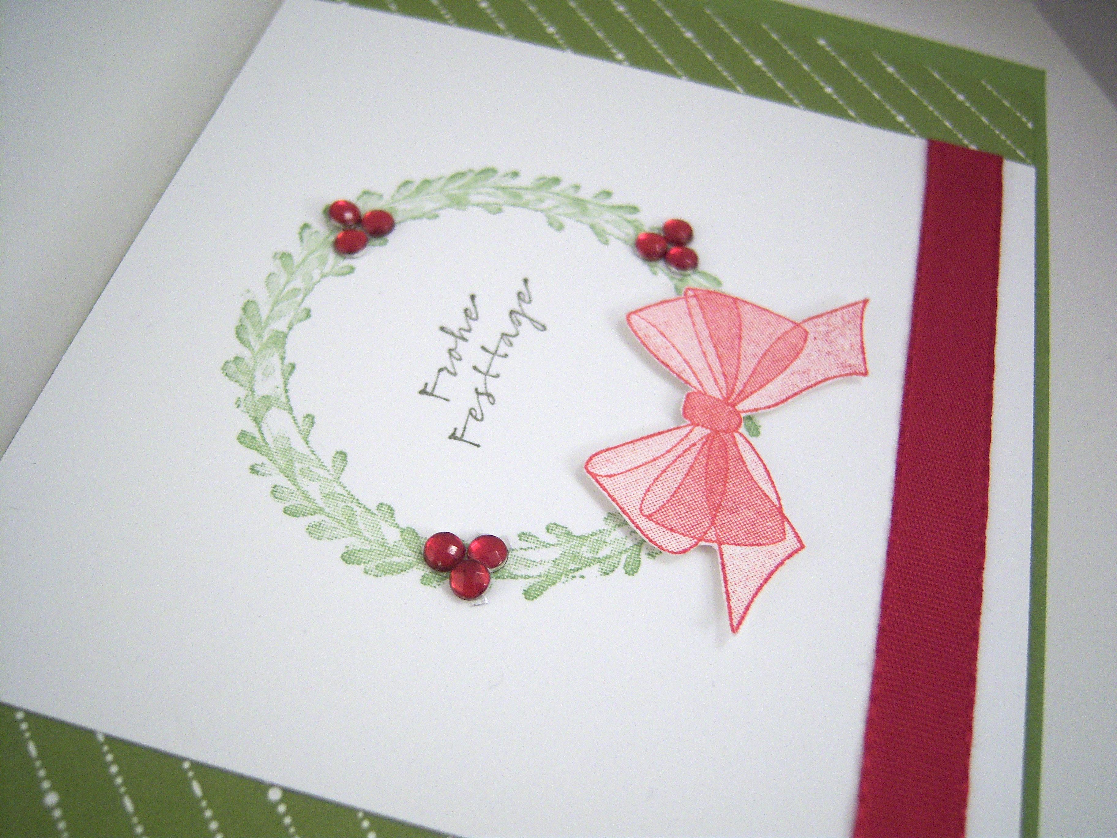 Weihnachtskarte -Kranz- Bild 2