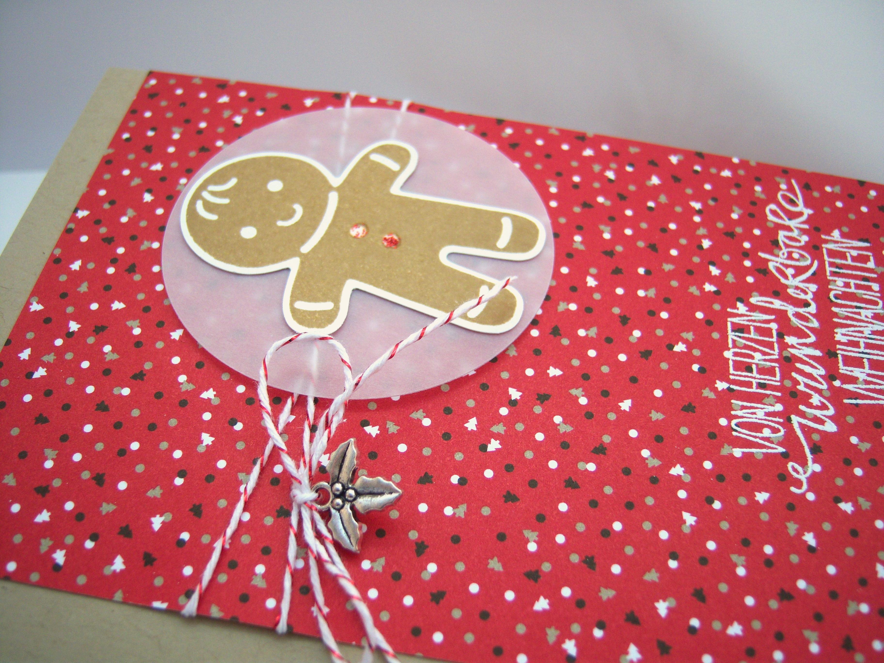 Weihnachtskarte -Lebkuchenmann- Bild 2
