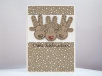 Weihnachtskarte Rentier-Kopf