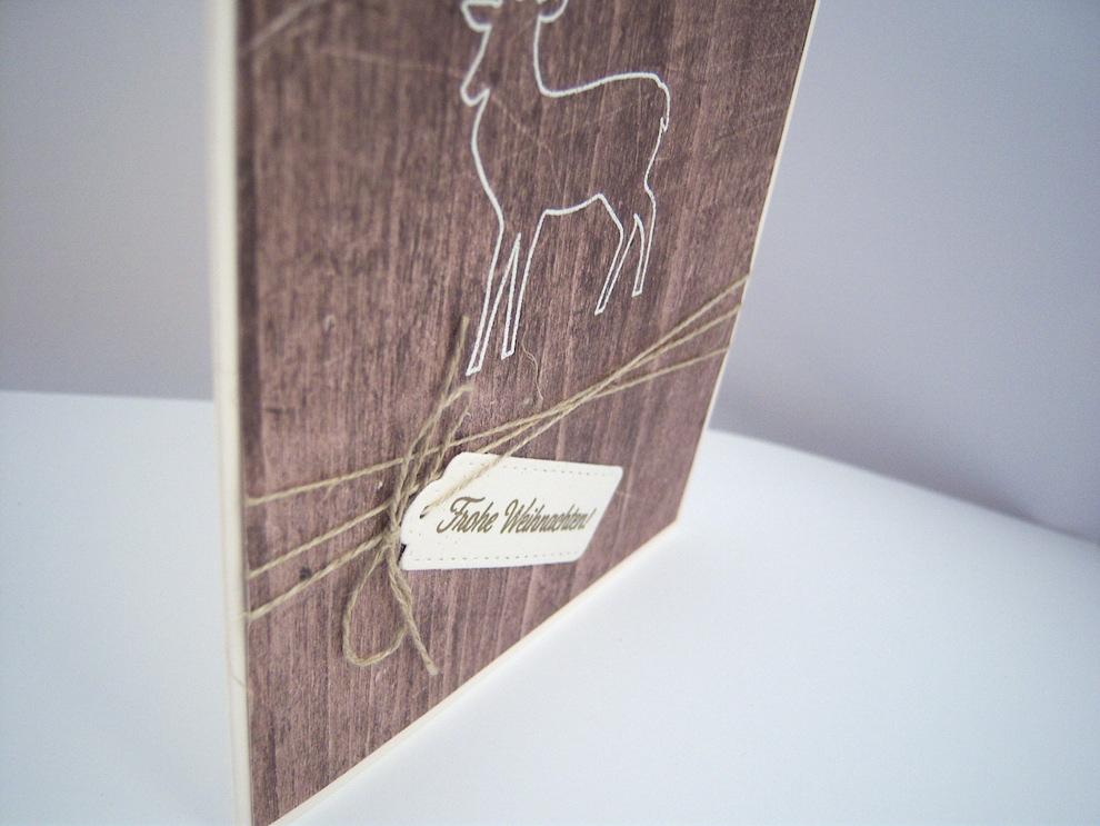 Weihnachtskarte -Rentier Holz- Bild 2