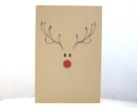 Weihnachtskarte -Rentiergesicht- Bild 1