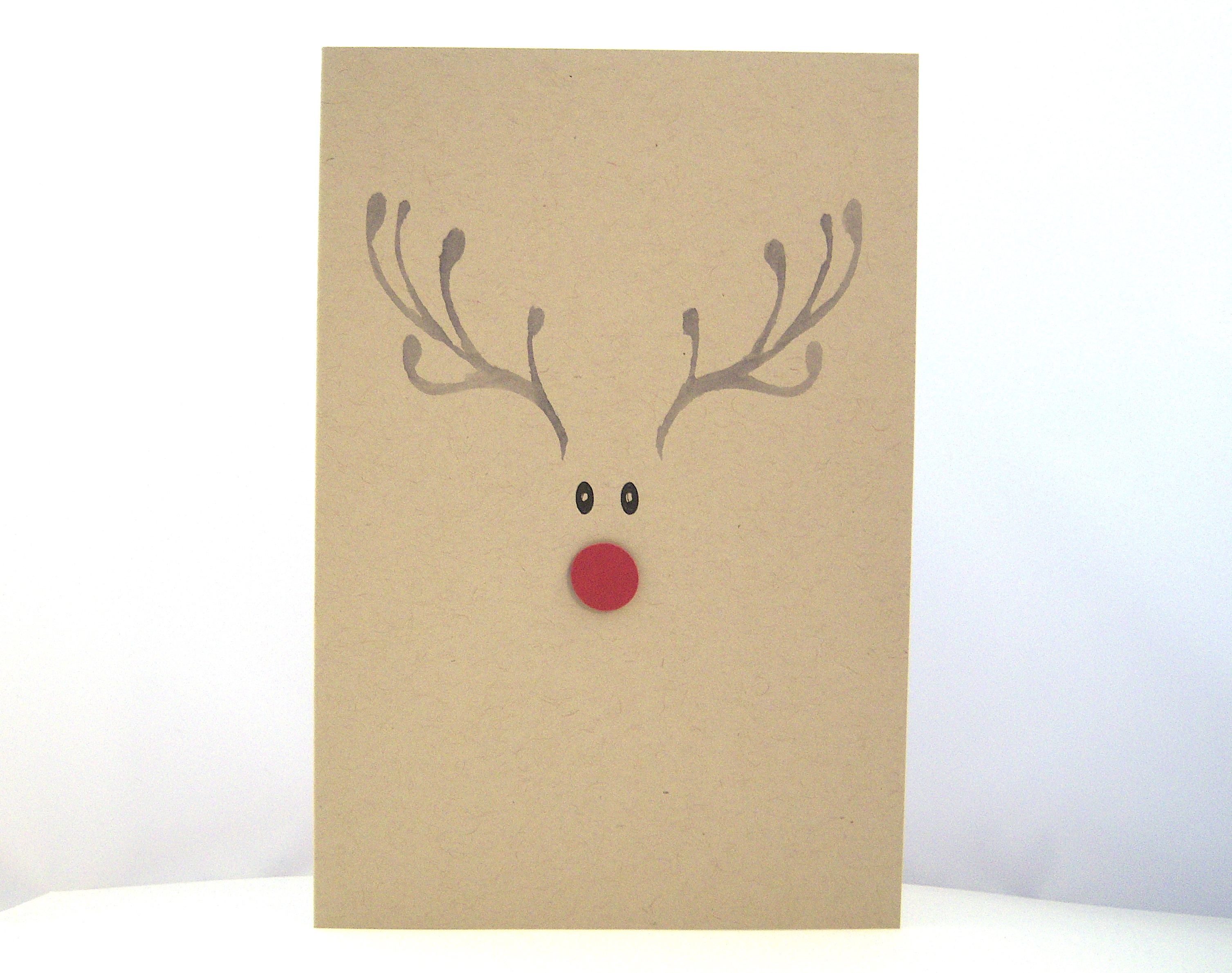 Weihnachten - Weihnachtskarte -Rentiergesicht- Bild 1