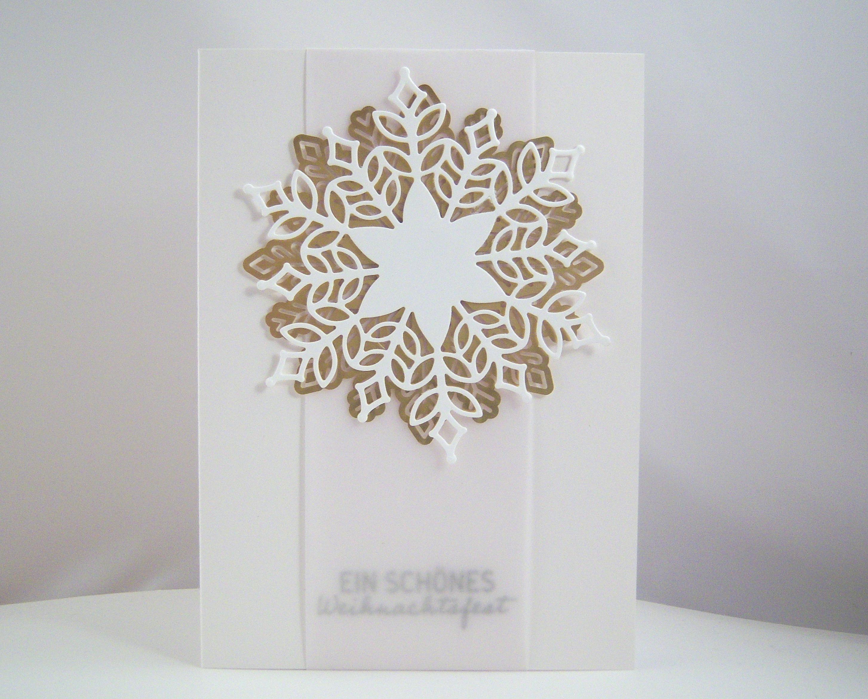 Weihnachten - Weihnachtskarte -Schneeflocke- Bild 1