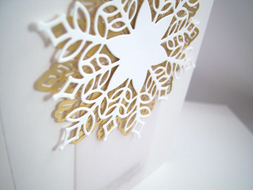 Weihnachtskarte -Schneeflocke- Bild 2