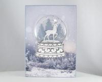 Weihnachtskarte Schneekugel Bild 1